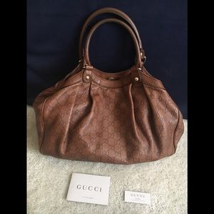 Authentic Gucci Guccissima Sukey